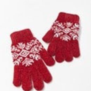 NWT Red & White Gloves